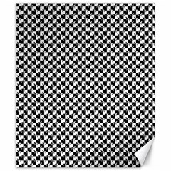 Black And White Checkerboard Weimaraner Canvas 8  X 10  by PodArtist