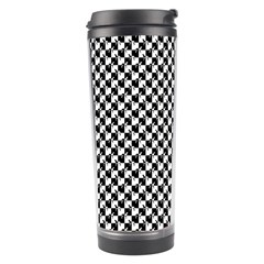 Black And White Checkerboard Weimaraner Travel Tumbler by PodArtist