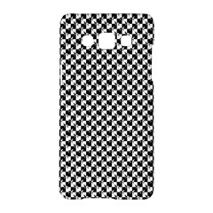 Black And White Checkerboard Weimaraner Samsung Galaxy A5 Hardshell Case  by PodArtist