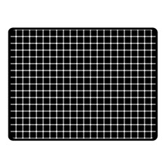 Black And White Optical Illusion Dots And Lines Fleece Blanket (small) by PodArtist