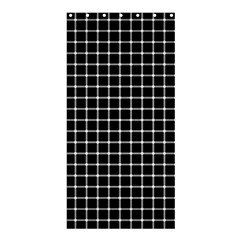 Black And White Optical Illusion Dots And Lines Shower Curtain 36  X 72  (stall)  by PodArtist