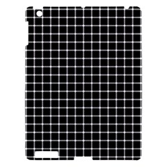 Black And White Optical Illusion Dots And Lines Apple Ipad 3/4 Hardshell Case by PodArtist