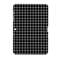 Black And White Optical Illusion Dots And Lines Samsung Galaxy Tab 2 (10 1 ) P5100 Hardshell Case  by PodArtist