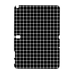 Black And White Optical Illusion Dots And Lines Galaxy Note 1 by PodArtist
