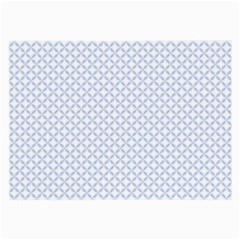 Alice Blue Quatrefoil In An English Country Garden Large Glasses Cloth (2-side)