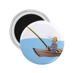 Fishing Fish Fisherman Boat Mare 2 25  Magnets by Sapixe
