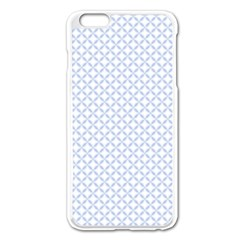 Alice Blue Quatrefoil In An English Country Garden Apple Iphone 6 Plus/6s Plus Enamel White Case by PodArtist