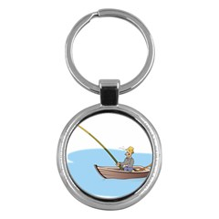 Fishing Fish Fisherman Boat Mare Key Chains (round)  by Sapixe
