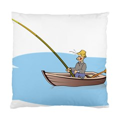 Fishing Fish Fisherman Boat Mare Standard Cushion Case (two Sides)