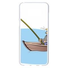 Fishing Fish Fisherman Boat Mare Samsung Galaxy S8 Plus White Seamless Case