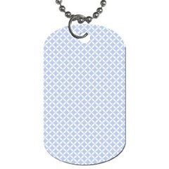 Alice Blue Quatrefoil In An English Country Garden Dog Tag (two Sides) by PodArtist