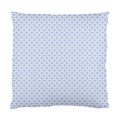 Alice Blue Quatrefoil In An English Country Garden Standard Cushion Case (two Sides) by PodArtist