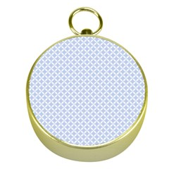 Alice Blue Quatrefoil In An English Country Garden Gold Compasses by PodArtist