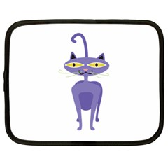 Cat Clipart Animal Cartoon Pet Netbook Case (large) by Sapixe