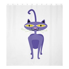 Cat Clipart Animal Cartoon Pet Shower Curtain 66  X 72  (large)  by Sapixe