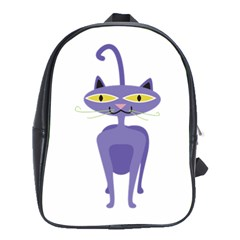Cat Clipart Animal Cartoon Pet School Bag (large) by Sapixe