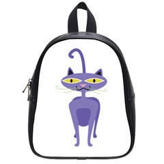 Cat Clipart Animal Cartoon Pet School Bag (small) by Sapixe