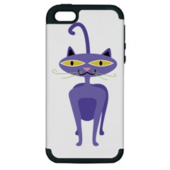 Cat Clipart Animal Cartoon Pet Apple Iphone 5 Hardshell Case (pc+silicone) by Sapixe