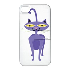 Cat Clipart Animal Cartoon Pet Apple Iphone 4/4s Hardshell Case With Stand by Sapixe