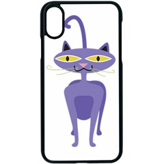 Cat Clipart Animal Cartoon Pet Apple Iphone X Seamless Case (black) by Sapixe
