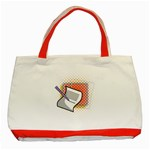 Letter Paper Note Design White Classic Tote Bag (Red) Front