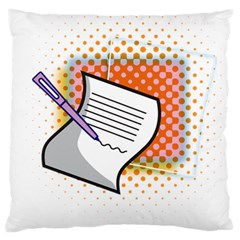 Letter Paper Note Design White Large Cushion Case (two Sides) by Sapixe