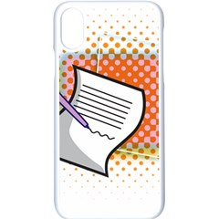 Letter Paper Note Design White Apple Iphone X Seamless Case (white)
