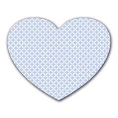 Alice Blue Hearts In An English Country Garden Heart Mousepads by PodArtist