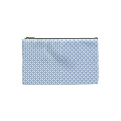 Alice Blue Hearts In An English Country Garden Cosmetic Bag (small)  by PodArtist