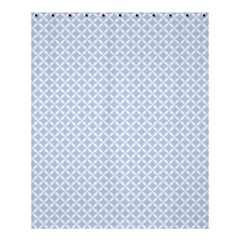Alice Blue Hearts In An English Country Garden Shower Curtain 60  X 72  (medium)  by PodArtist