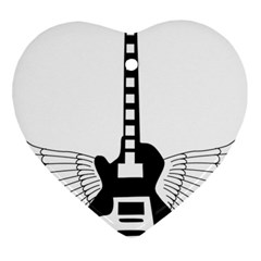 Guitar Abstract Wings Silhouette Ornament (heart) by Sapixe