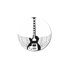 Guitar Abstract Wings Silhouette Golf Ball Marker
