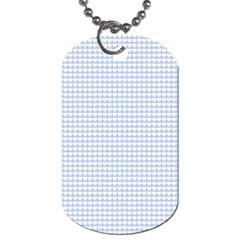 Alice Blue Hearts In An English Country Garden Dog Tag (two Sides) by PodArtist