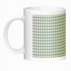 Alice Blue Hearts In An English Country Garden Night Luminous Mugs by PodArtist