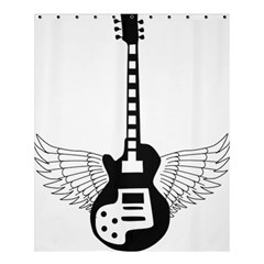 Guitar Abstract Wings Silhouette Shower Curtain 60  X 72  (medium)