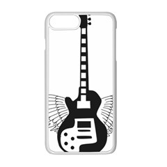 Guitar Abstract Wings Silhouette Apple Iphone 8 Plus Seamless Case (white)