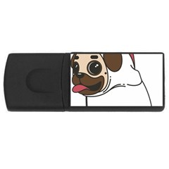 Pug Unicorn Dog Animal Puppy Rectangular Usb Flash Drive