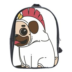 Pug Unicorn Dog Animal Puppy School Bag (large) by Sapixe