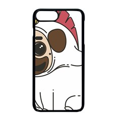 Pug Unicorn Dog Animal Puppy Apple Iphone 8 Plus Seamless Case (black)