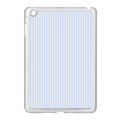 Alice Blue Pinstripe In An English Country Garden Apple Ipad Mini Case (white) by PodArtist