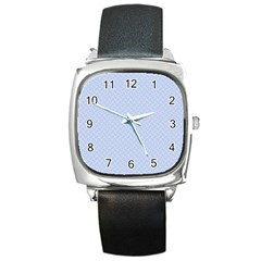 Alice Blue Mini Footpath In English Country Garden  Square Metal Watch by PodArtist