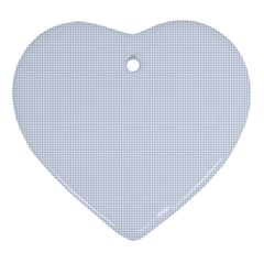 Alice Blue Houndstooth In English Country Garden Heart Ornament (two Sides) by PodArtist