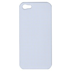 Alice Blue Houndstooth In English Country Garden Apple Iphone 5 Hardshell Case by PodArtist