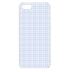 Alice Blue Houndstooth In English Country Garden Apple Iphone 5 Seamless Case (white) by PodArtist