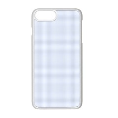 Alice Blue Houndstooth In English Country Garden Apple Iphone 8 Plus Seamless Case (white) by PodArtist
