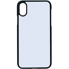Alice Blue Houndstooth In English Country Garden Apple Iphone X Seamless Case (black) by PodArtist