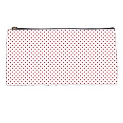 Usa Flag Red Stars On White Pencil Cases by PodArtist