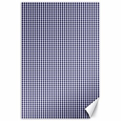 Usa Flag Blue And White Gingham Checked Canvas 24  X 36  by PodArtist