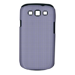 Usa Flag Blue And White Gingham Checked Samsung Galaxy S Iii Classic Hardshell Case (pc+silicone) by PodArtist