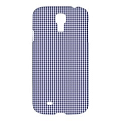 Usa Flag Blue And White Gingham Checked Samsung Galaxy S4 I9500/i9505 Hardshell Case by PodArtist